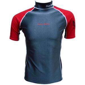 Barco Men'S KN0615 (PBT) Recycled Fabrics Short Sleeve Rash Guard